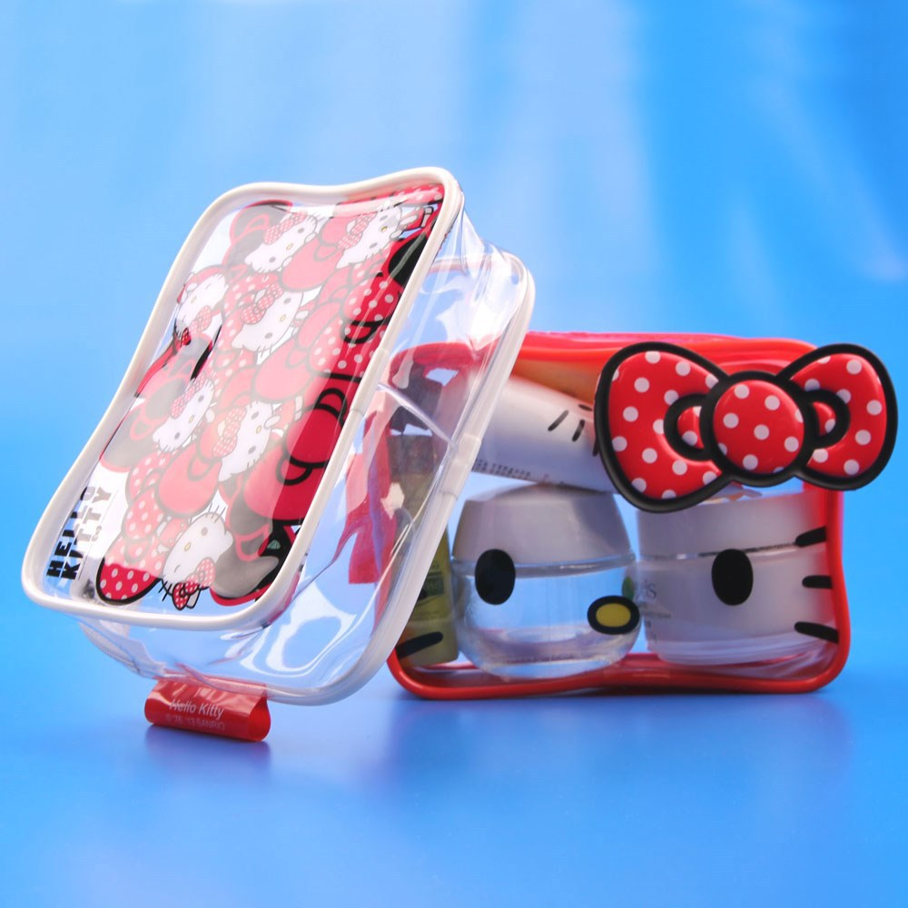 f53fc991f6 Shenzhen pvc manufacturer cosmetics hello kitty clear bag supplier ...