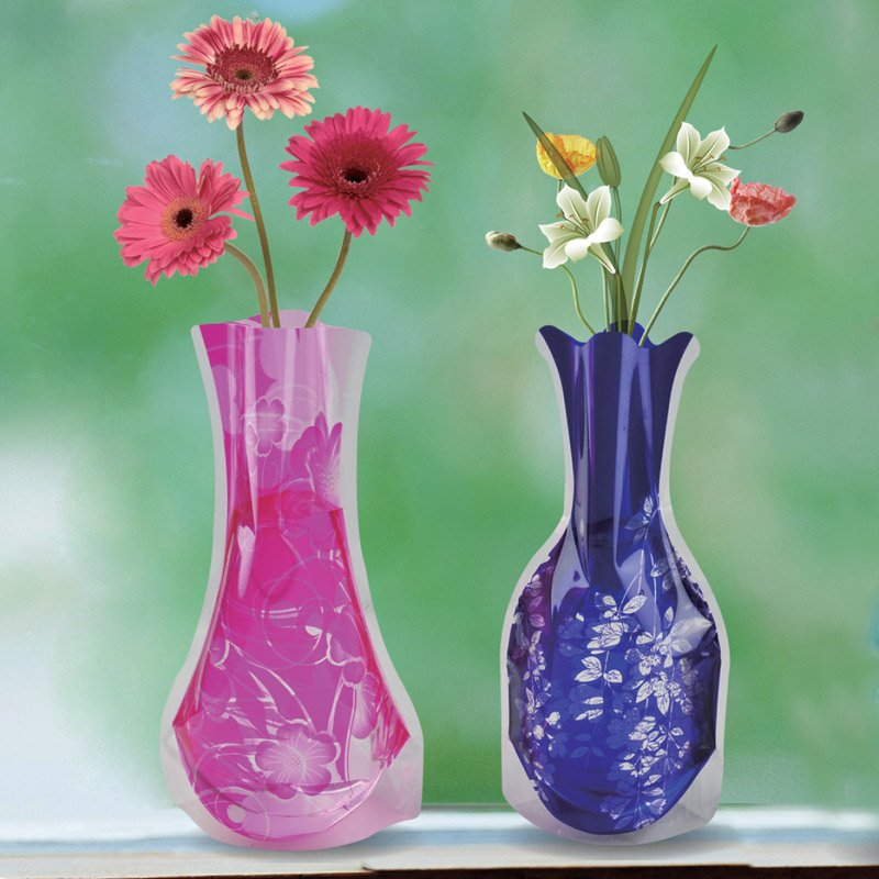 PVC Foldable Vase with Logo Printing,PVC/EVA Vase manufacturer