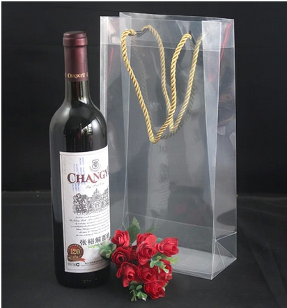 PVC Wine bag supplier,Hot Clear PVC Wine Bag}